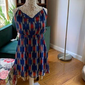 Dresses & Skirts - Pretty blue red and gray dress!